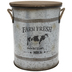 Farm Fresh Milk Galvanized Metal Bucket - Large
