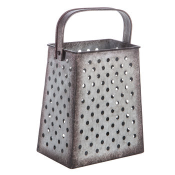 Grated Metal Bucket