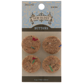 Confetti Cork Shank Buttons - 23mm