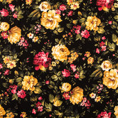 Cottage Rose Floral Cotton Calico Fabric