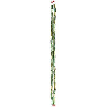 Green AB Gemcut Rectangle Glass Bead Strands