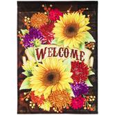 Welcome Floral Garden Flag