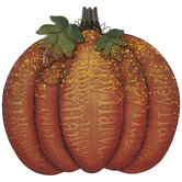 Pumpkin Metal Decor