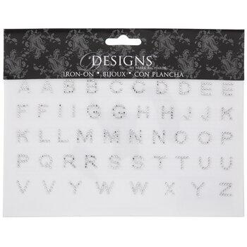 Rhinestone Alphabet Iron-On Appliques