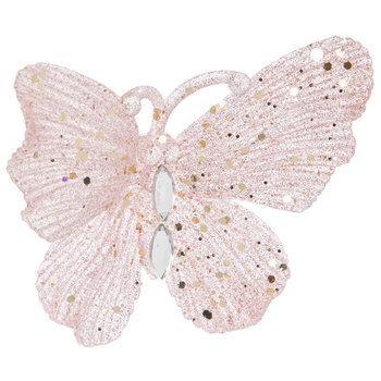 Pink Butterfly Ornament