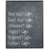 Bad Day Coffee Good Day Coffee Wood Decor