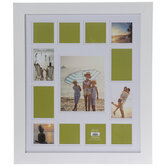 White Wood Collage Wall Frame