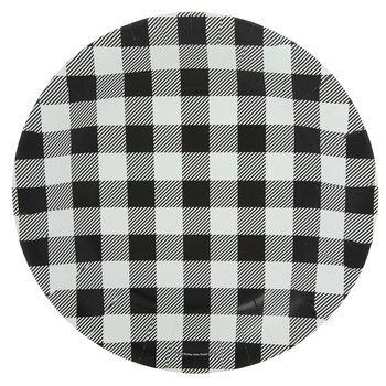 Black & White Buffalo Check Paper Plates