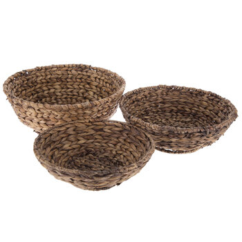 Brown Round Banana Leaf Baskets