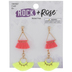Pink & Yellow Tassel Earrings