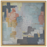 Square Abstract Framed Wall Decor