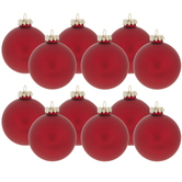 Red Matte Ball Ornaments