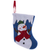 Blue Snowman Mini Stocking