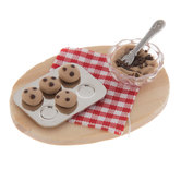 Miniature Cookie Dough On Wood Tray