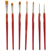 Hobby Paint Brushes - 7 Piece Set