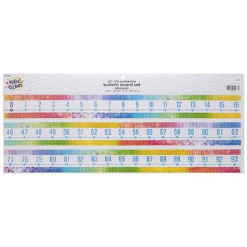 Retro Number Line Bulletin Board Set