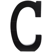 Black Letter Wood Wall Decor - C