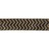 Black & Gold Glitter Chevron Wired Edge Ribbon - 2 1/2