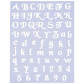 Script Alphabet Stencils