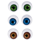 Multi Pupil Paste-On Wiggle Eyes - 15mm