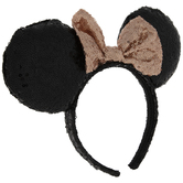 Black & Rose Gold Sequin Minnie Mouse Headband