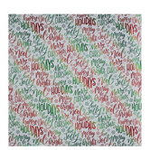 Red & Green Foil Words Gift Wrap