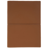 Brown Soft Cover Sketchbook With Horizontal Elastic