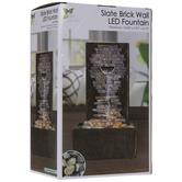 Slate Brick Wall LED Fountain