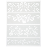Elegant Floral Adhesive Stencils