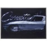 Silver Corvette Framed Wall Decor