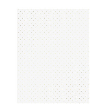 """White & Gold Polka Dot Vellum Paper - 8 1/2"""" x 11"""""""