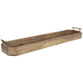 Elongated Octagon Wood Tray