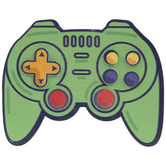 Video Game Controller Painted Wood Shape