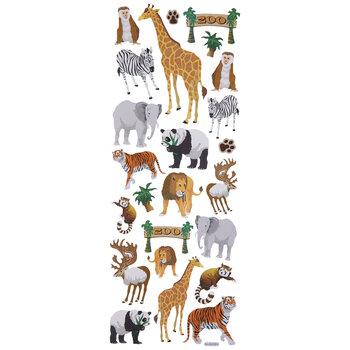Zoo Animal Glitter Stickers