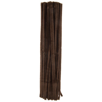 Brown Chenille Stems - 6mm