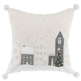 Snow Town Pillow
