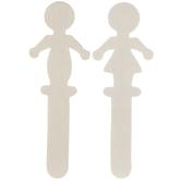 Boy & Girl Stick Figure Wood Shapes