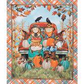 Scarecrow Couple & Truck Cotton Fabric