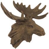 Brown Moose Head Wall Decor