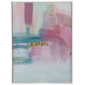 Pink & Blue Abstract Canvas Wall Decor