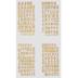 Gold Glitter Franklin Alphabet Stickers - 1 1/4