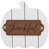 Thankful Wood Pumpkin
