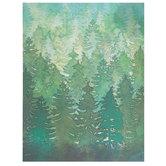 "Green Watercolor Trees Scrapbook Paper - 8 1/2"" x 11"""
