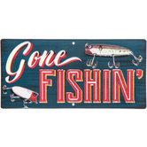 Gone Fishin Metal Sign