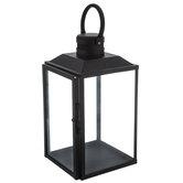 Black Simple Metal Lantern - Small