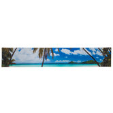 Panoramic Beach Scene Canvas Wall Decor