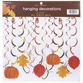 Pumpkin, Leaves, & Swirls Hanging Decorations