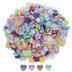 Iridescent Pastel Acrylic Hearts