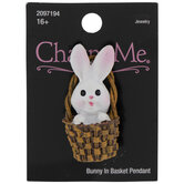 Bunny In Basket Pendant