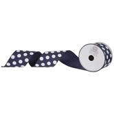 "Polka Dot Wired Edge Grosgrain Ribbon - 2 1/2"""
